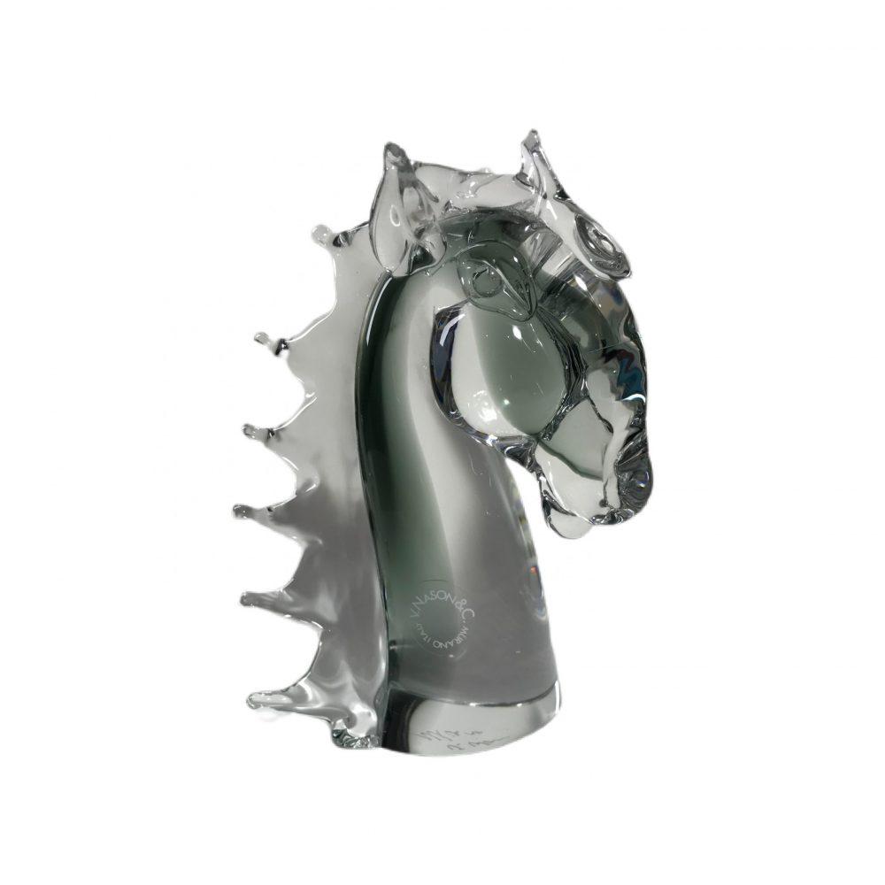 scultura in vetro Murano Nason Italy cavallo
