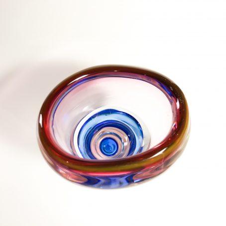 vintage glass vase Bohemia Czechoslovakia