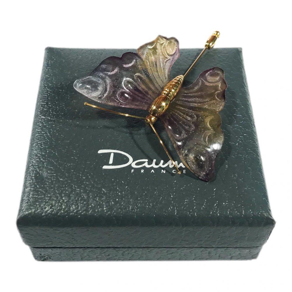 spilla vintage Daum France Violet Papillon