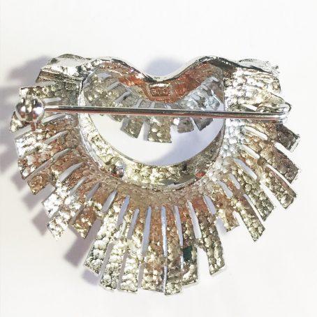 spilla vintage piume nativi americani in argento e smalti dettagli
