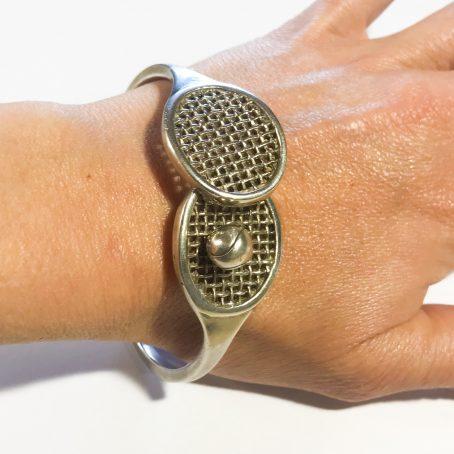 bracciale modernista in argento disegnato da Antonio Fallaci