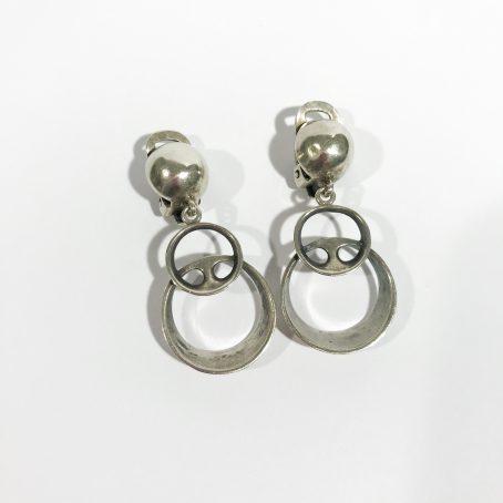 orecchini in argento pendenti d'epoca Ottaviani