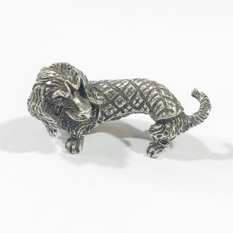 dachshund dog vintage silver italian miniature
