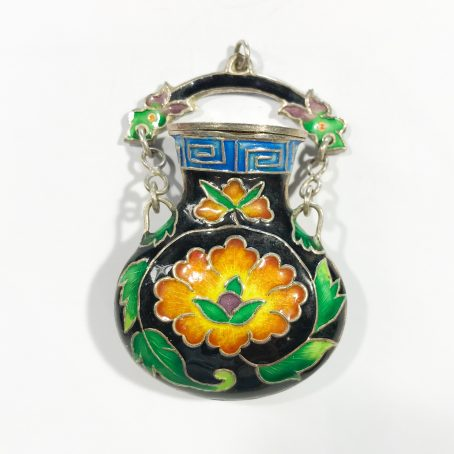 Chinese vintage pendant with enamels