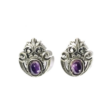 liberty silver cleap earrings with amethyst