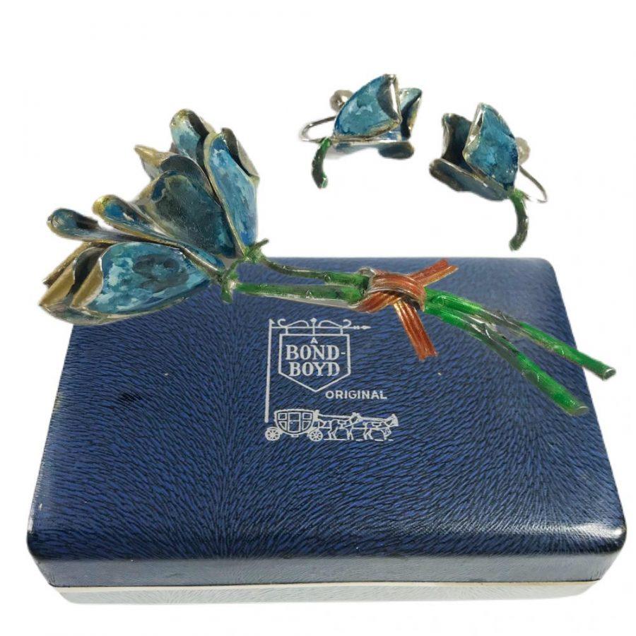 Bond boyd brooch and earrings set
