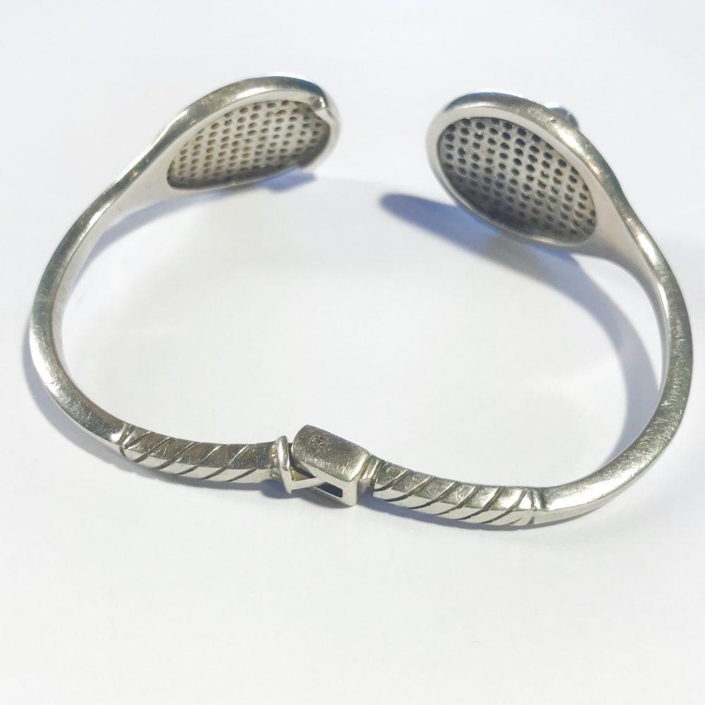 bracciale in argento firmato Antonio Fallaci designer Gucci dettagli