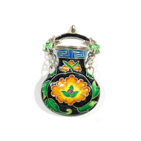 antico snuff  bottle cinese con smalti