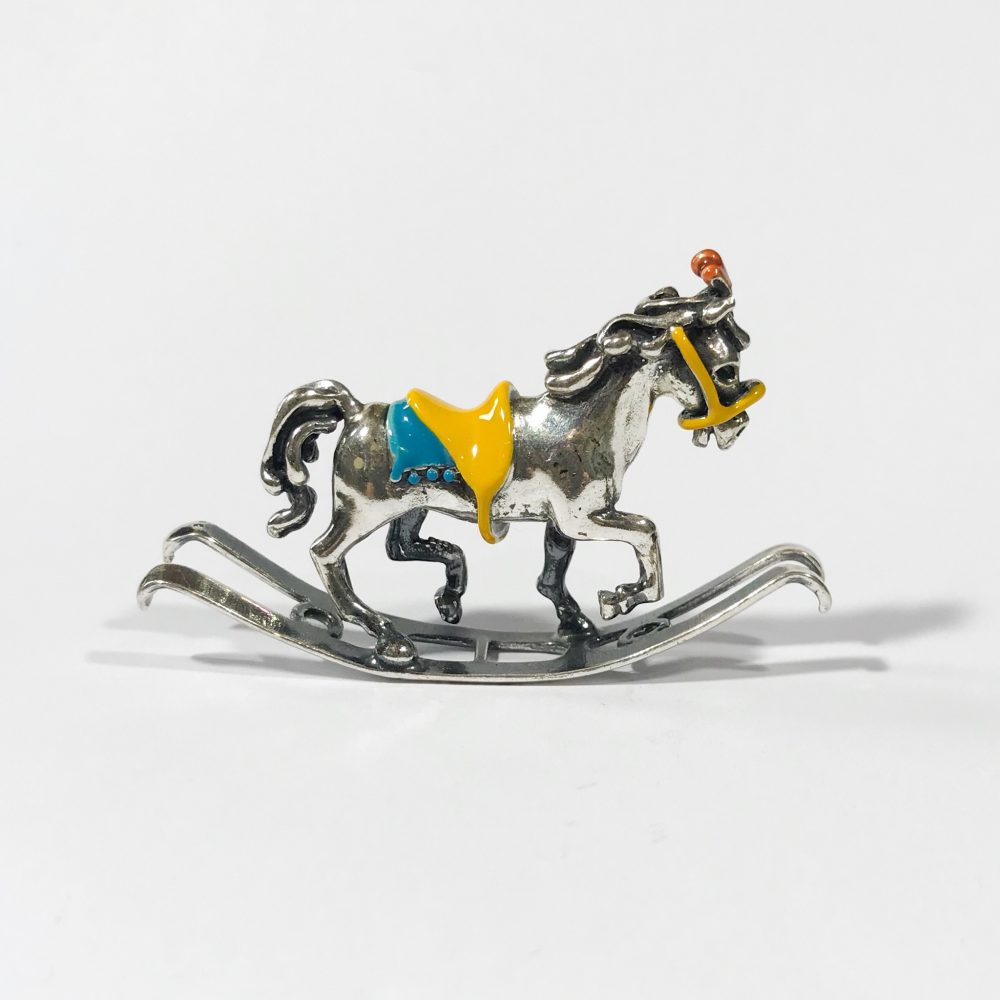 Italian miniature in 925 silver rocking horse