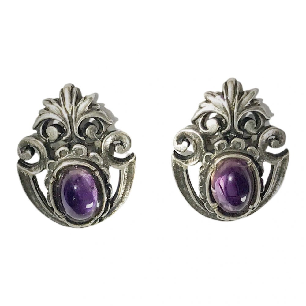 liberty silver earrings with amethyst