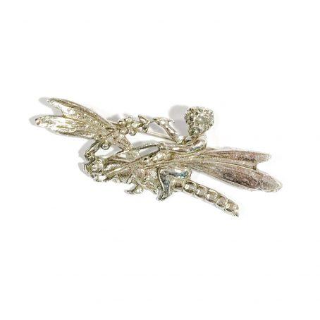 Shiné silver brooch dragonfly motif