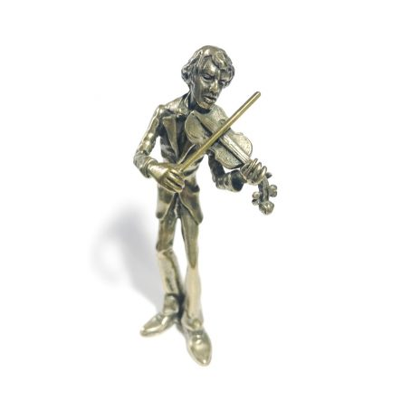 silver violinist miniature made in italy