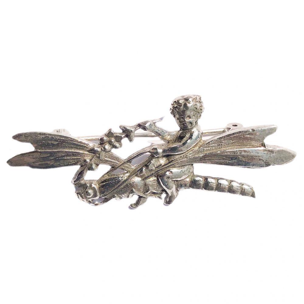 spilla libellula firmata Shiné in argento 925