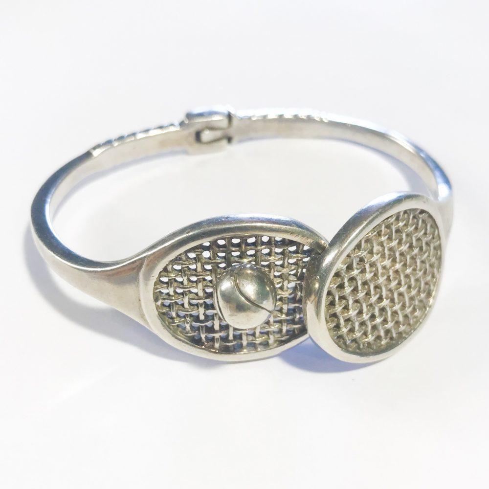 vintage silver bracelet signed Antonio Fallaci designer Gucci