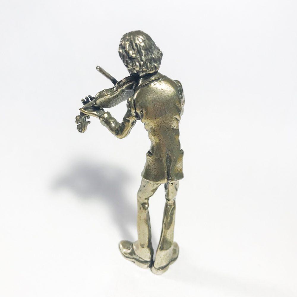 violinista in argento 800 made in Italy dettagli