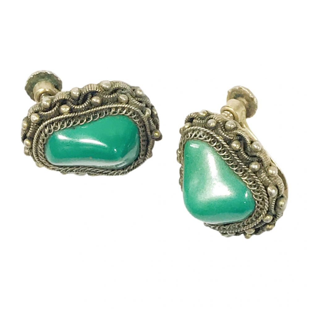 antichi orecchini in argento