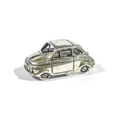 Fiat 500 Italian silver miniature from the 1970s