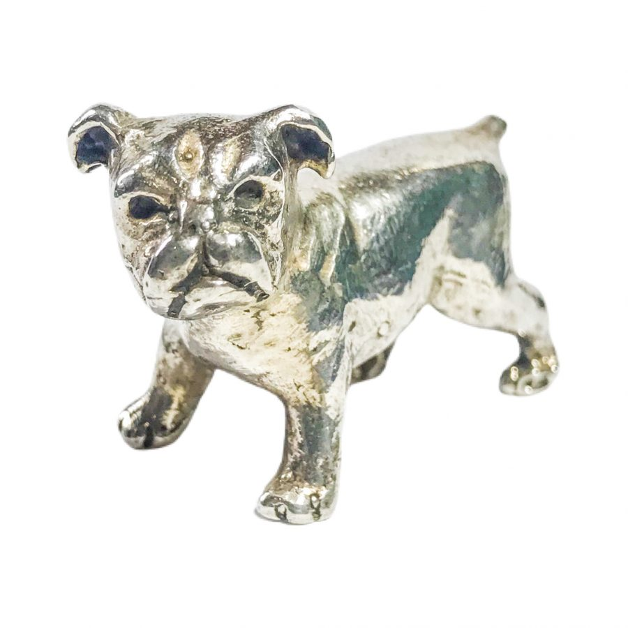 miniatura italiana vintage in argento bulldog