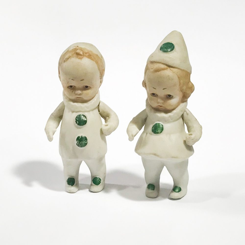 small antique dolls in biscuit porcelain Germany