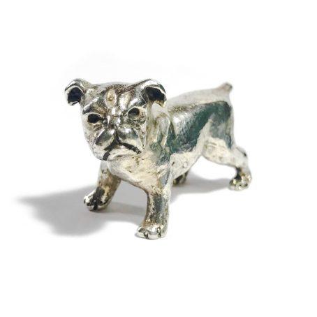 solid silver bulldog vintage italian miniature