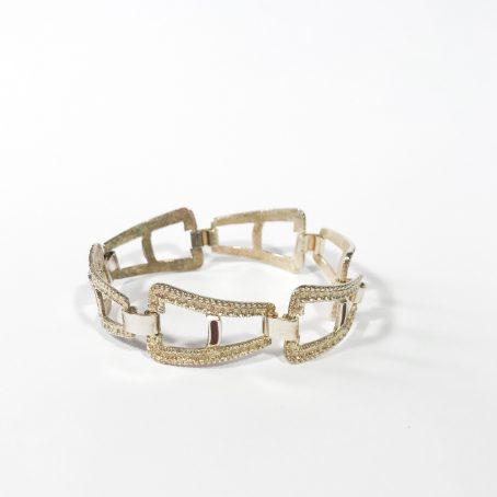 1960s silver enamel bracelet