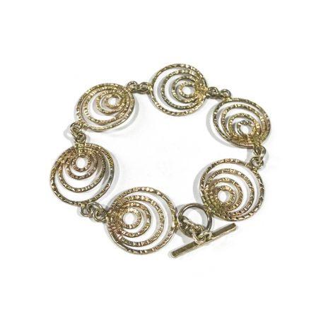 modernist italian silver bracelet