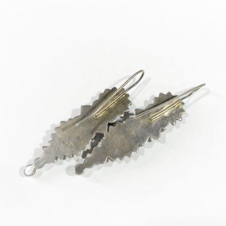silver vintage ethnic earrings detail