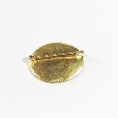 spilla vintage in argento dorato dettagli