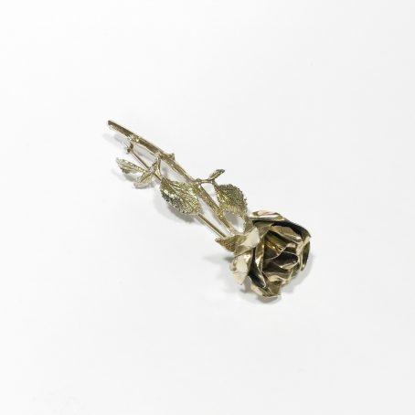 spilla con rosa anni 70 in argento