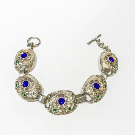 bracciale aretino anni 70 in argento e smalti