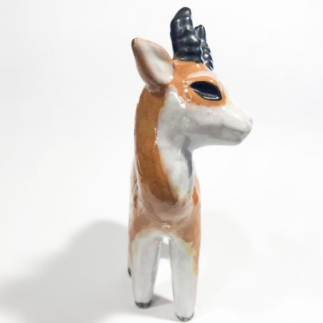 cerbiatto in terracotta art deco
