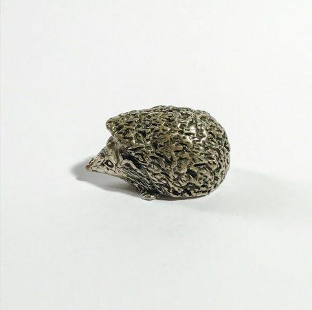miniatura vintage italiana riccio in argento firmata Angini