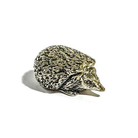 Italian vintage miniature hedgehog in silver signed Angini