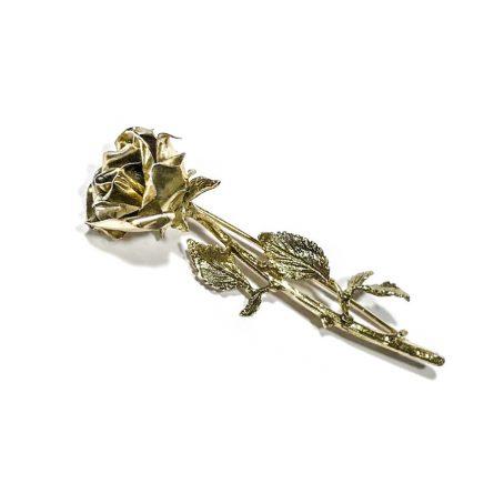 spilla ramo di rosa in argento anni 70 Italy