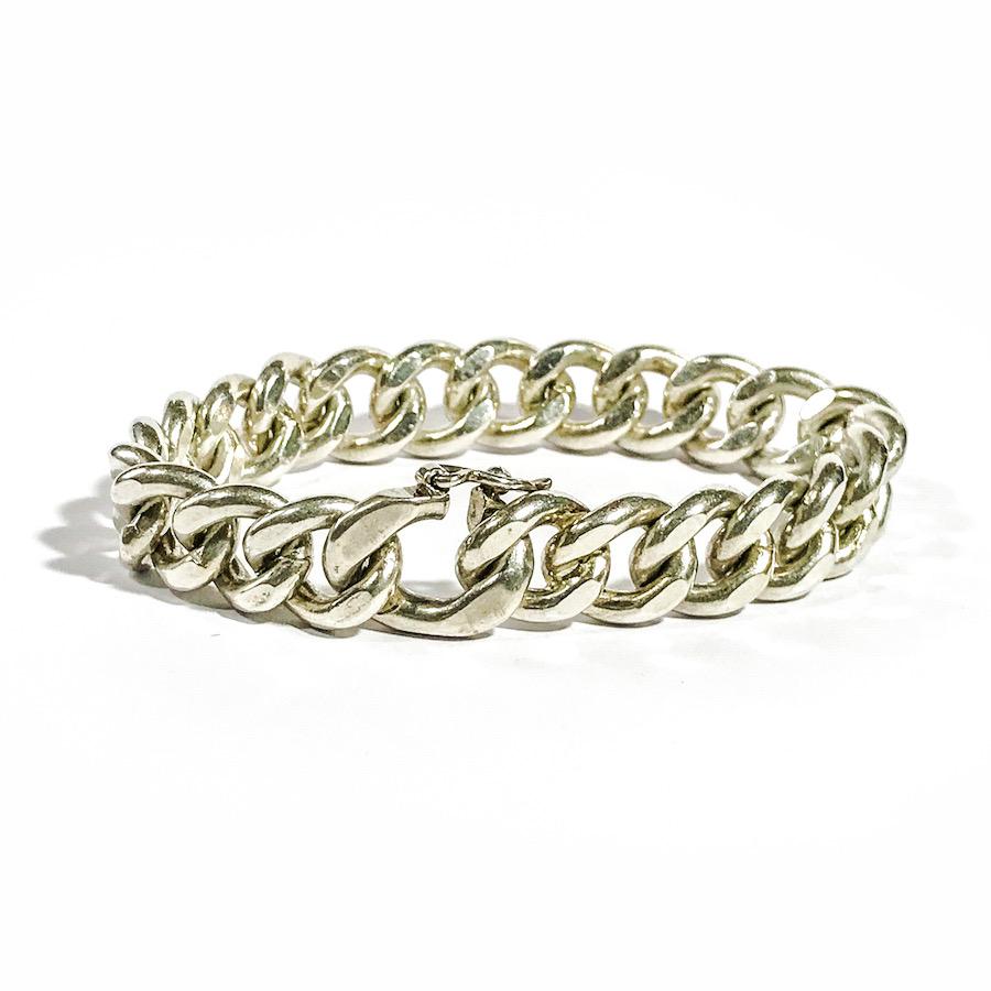 vintage solid silver man bracelet