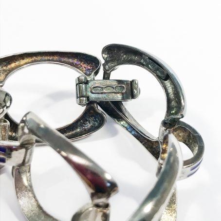Bracciale argento catena vintage UnoaErre smaltato