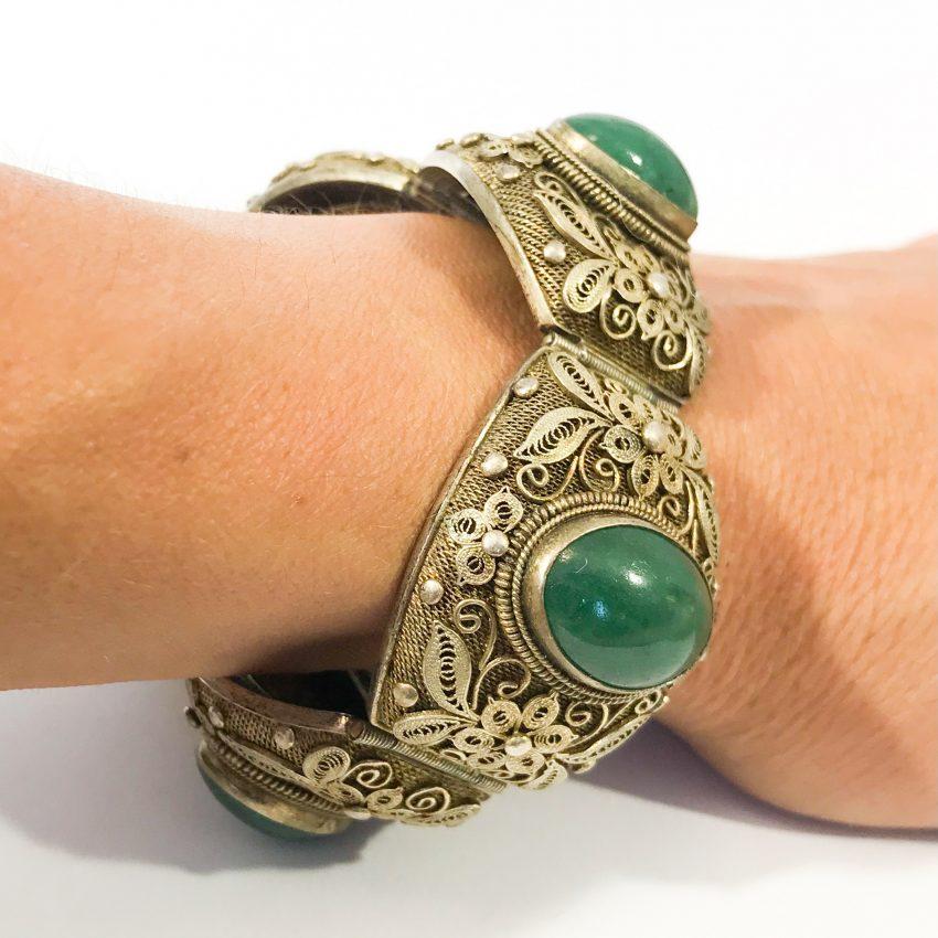 bracciale argento antico cinese in filigrana