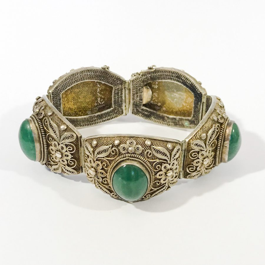 bracciale argento antico cinese